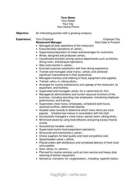 Restaurant Manager Resume Objective by Modern Restaurant Manager Resume Objective Exles