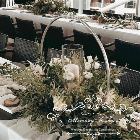 10PCS 2019 New gold round wedding centerpiece vase hoop