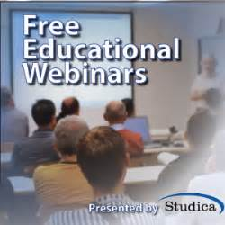 Upcoming Education Webinars