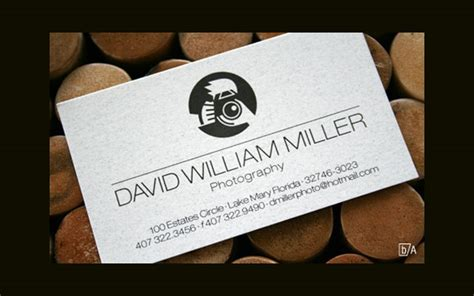 creative photography business card design examples