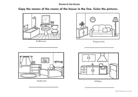 Rooms Of The House Worksheet  Free Esl Printable