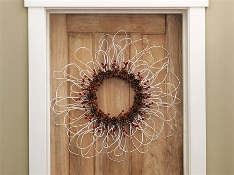 wreath diy how to make a wreath from electrical wire berries and