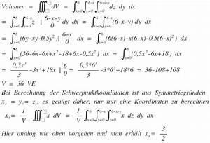 Integration Berechnen : dreifach bestimmung des volumen und des schwerpunktes ber dreifach integral mathelounge ~ Themetempest.com Abrechnung