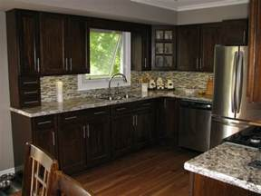 kitchen kitchen backsplash ideas with dark oak cabinets fireplace home office contemporary