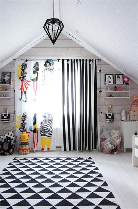 Ikea Gardinen Kinderzimmer by Marimekko Kulkue Curtains Paired With Ikea Striped Fabric