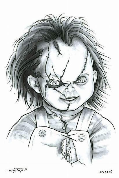 Horror Scary Drawings Chucky Drawing Deviantart