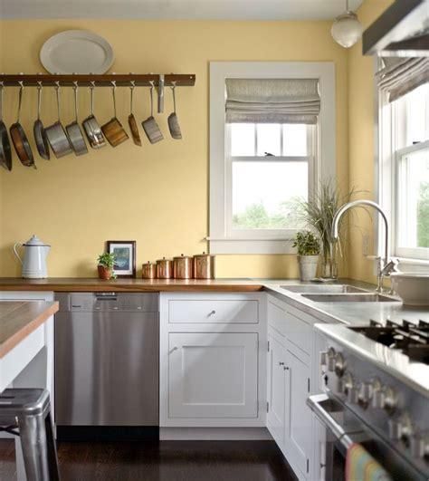 pale yellow walls white cabinets wood counter tops kitchen pinterest kitchen ideas