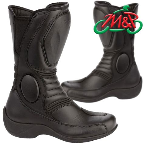 ladies black motorcycle boots dainese siren lady waterproof ladies motorcycle boots
