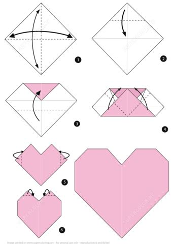 Origami Boats For Beginners by Origami Heart Instructions Free Printable Papercraft