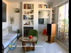 Aménagement Petit Appartement : amenagement petit studio 18m2 3 comment optimiser ~ Nature-et-papiers.com Idées de Décoration
