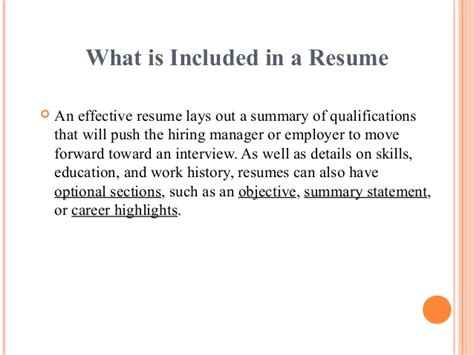 what is included in a cover letter for a resume