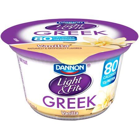 dannon yogurt light and fit dannon light fit vanilla nonfat yogurt 5 3 oz