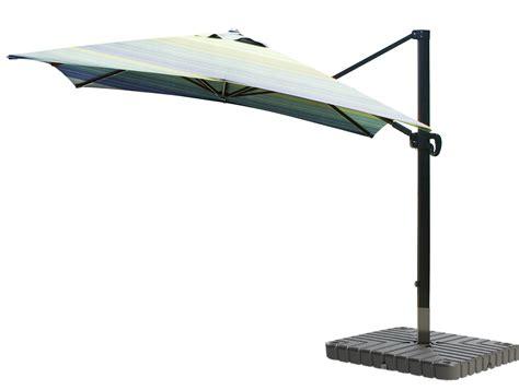 cantilever umbrella aluminum 10 foot square sunbrella