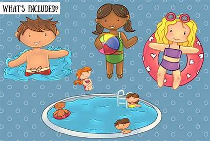 Pool Party Clip Summer Fun Kawaii Graphic