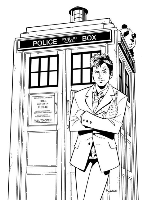 Doctor Who Coloring Page | Fashion coloring book, Coloring
