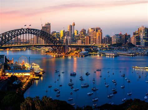 sydney city  south wales australia panorama   port