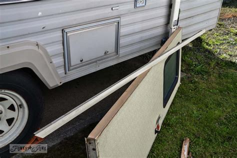 window treatments the 1 67 travel trailer door repair and a lesson funky