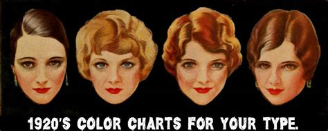 color chart   type blondes vintage makeup guides