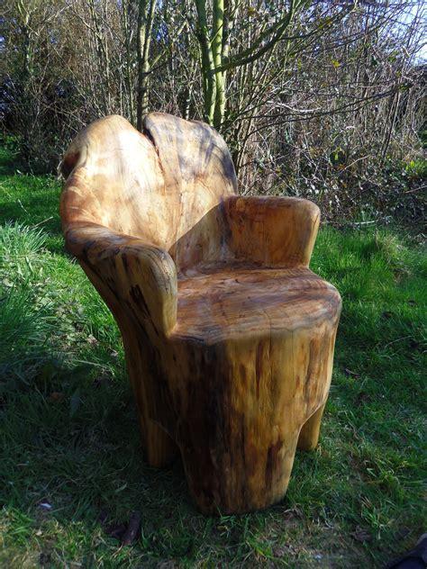 tree trunk chair erik phipps
