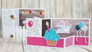 Geburtstagskarte Basteln Einfach : einfach eine 3d karte basteln youtube ~ Orissabook.com Haus und Dekorationen