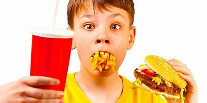 Kid Fast Fat Meals Eating Boy Healthy