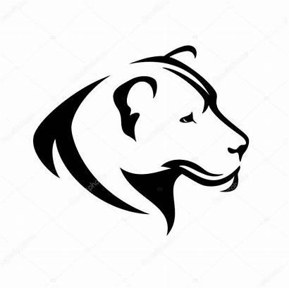 Lioness Profile Vector Illustration Head Lion Simple