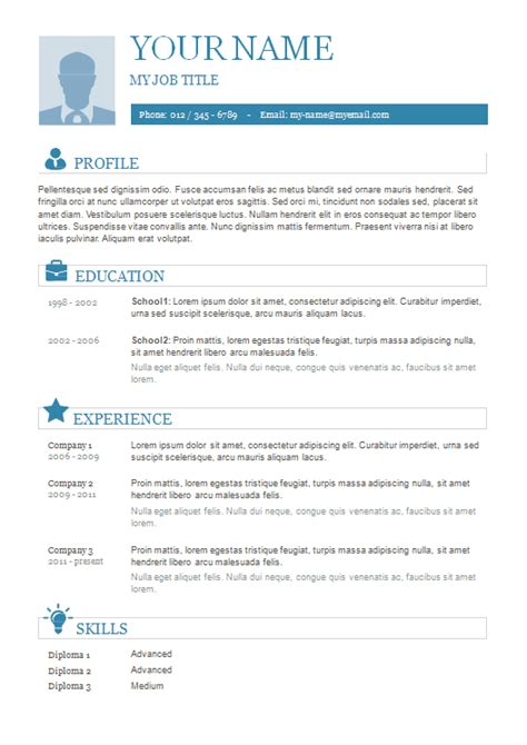 Plain Resume Template by 10 Best Resume Templates You Can Free Ms Word