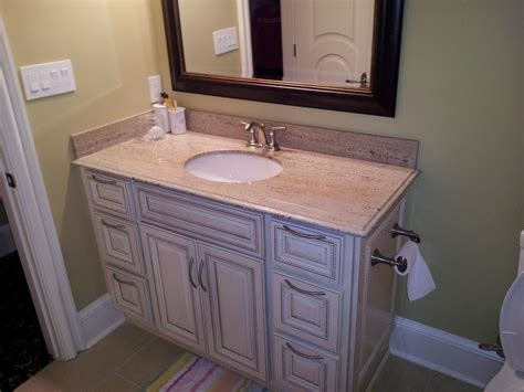 antique white glazed bathroom vanity white granite