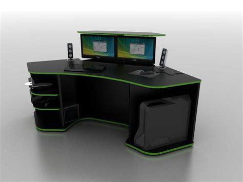 gaming desk setup ideas r2s gaming desk by prospec designs be smarter be better
