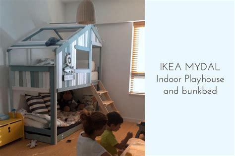 indoor playhouse bunk bed ikea mydal hack