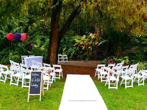 botanical gardens wedding city botanic gardens wedding brisbane wedding ceremony decorators