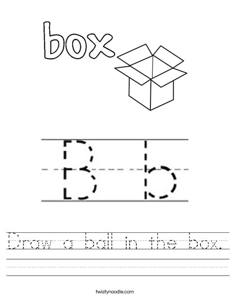 Draw A Ball In The Box Worksheet  Twisty Noodle