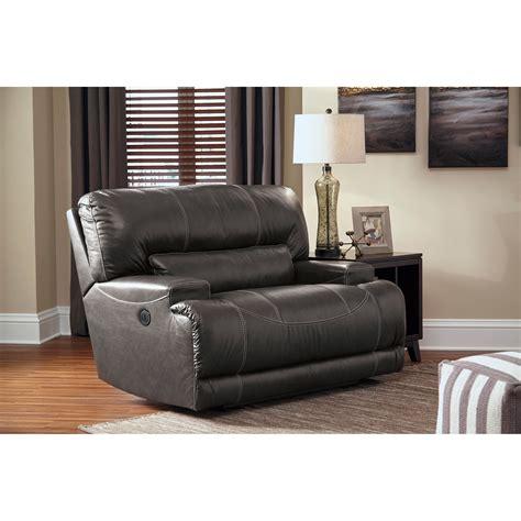 wide seat recliner signature design by mccaskill u6090052 contemporary