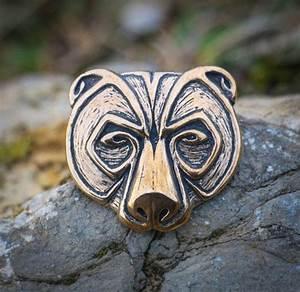 Symbole Mythologie Nordique : ursus bear head pendant bronze jewel necklace pagan celtic viking norse jewelry jewellery native ~ Melissatoandfro.com Idées de Décoration
