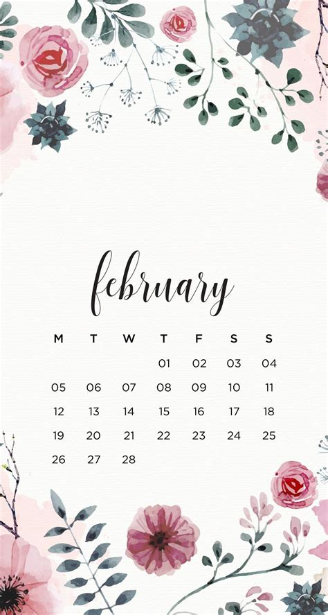 emmas studyblr february floral phone wallpapers