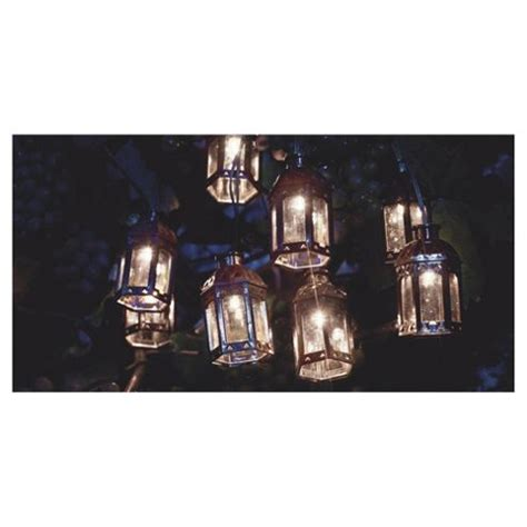 buy tesco marakesh lantern solar string lights bronze