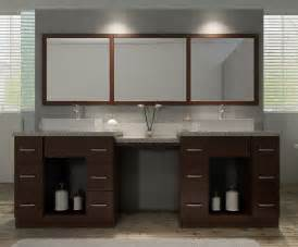 Single Sink Bathroom Vanity Set by Ariel Roosevelt 97 Quot Double Sink Vanity Set In Walnut W