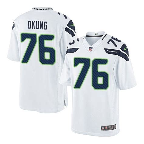 Russell Okung Limited White Jersey Premier