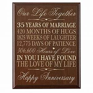 35th Wedding Anniversary Wall Plaque Gifts For Couple ...