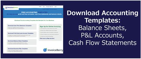accounting templates balance sheets pl
