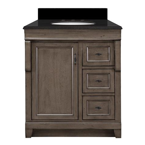 31 granite vanity top with foremost naples 31 in w x 22 in d vanity in distressed