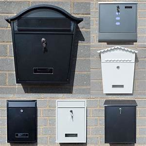details about large lockable wall mounted letter post box With large wall mounted letters