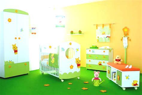 baby boy nursery room  colorful crib  wall paint
