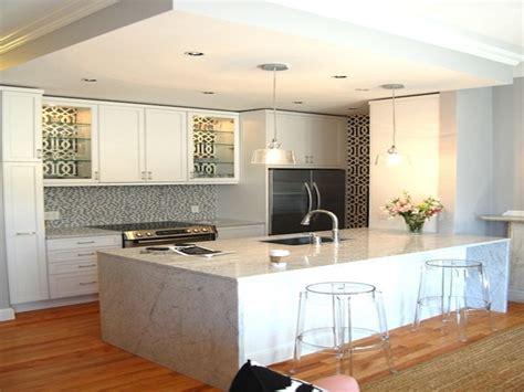 waterfall kitchen sink furniture stunning large kitchen island design with 3363