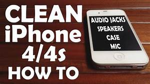 Clean Iphone 4  4s After Using 2 Years Audio Jack Speaker Mic
