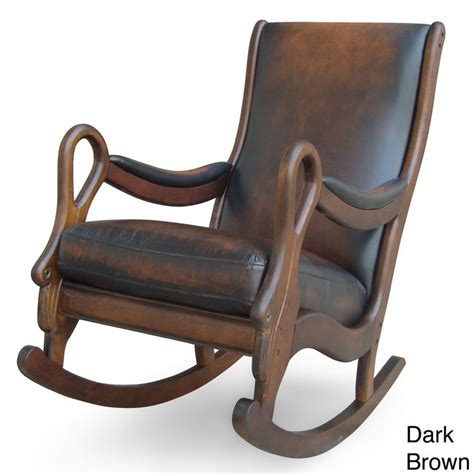 leather rocking chair vintage leather rocking chair