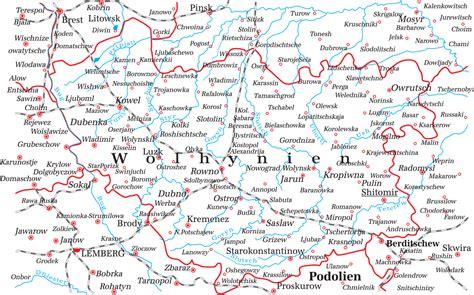 Karte Wolhynien