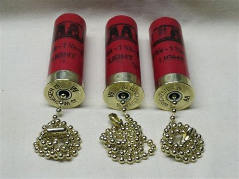 shotgun shell ceiling fan light pull soooo awesome