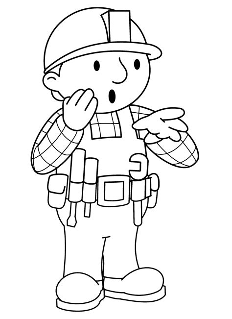 bob  builder coloring pages getcoloringpagescom