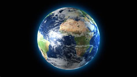 Rotating Earth Animation Wallpaper - loopable 3d animation of earth rotating with a black